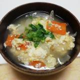 玉葱とキャベツと人参の卵とじ糀味噌汁