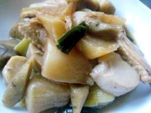 根菜たっぷり、手羽先の煮物