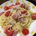 好みのお刺身de♪トマトと魚介の冷製パスタ