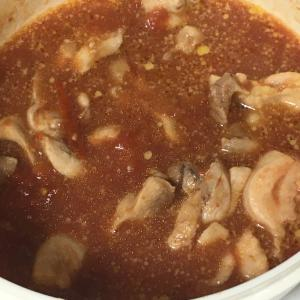 レンジで簡単☆鶏もも肉のトマト煮