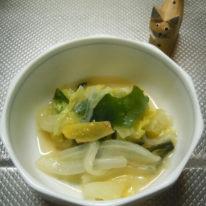野菜たっぷり白菜とわかめの簡単旨煮