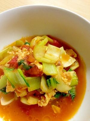 チンゲン菜の中華風炒め物