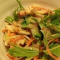 水菜と揚げのごまドレサラダ