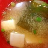 豆腐とわかめのお味噌汁☆