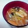 豆味噌と糀味噌のブレンド味噌汁、大根と油揚げ♪