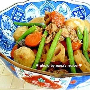 お弁当にも!里芋と蓮根の筑前煮風