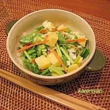 小松菜とじゃがいものクリーミーサラダ