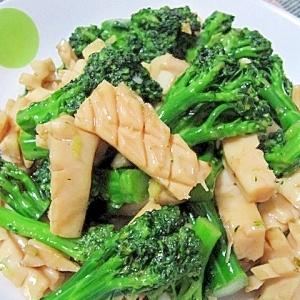 イカとブロッコリーの炒め物(魷魚炒西蘭花)