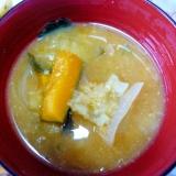 ❤ワカメ入り さつま芋&玉ねぎ&かぼちゃの味噌汁❤
