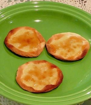 餃子の皮 de  ゴルゴンゾーラのピザ♪