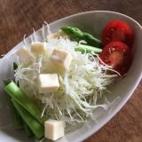 プロセスチーズのっけサラダ