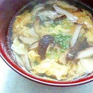 かき卵とシイタケの中華スープ