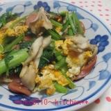 簡単♪ウインナーと野菜のスクランブルエッグ