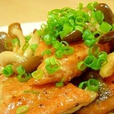 鮭ときのこのバタぽんソテー