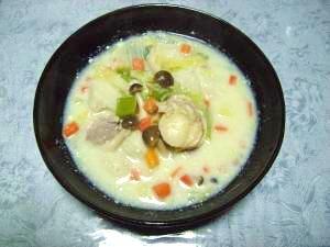 具たっぷり豆乳スープ
