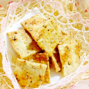 ローストオニオンの堅焼きクラッカー(クッキー?)