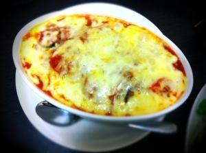 茄子とトマトのミートチーズ焼き