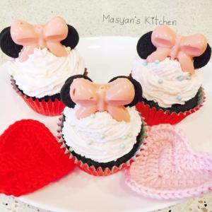 ミニーちゃんのコーンミール入りカップケーキ