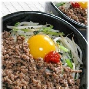 鶏肉と小松菜ともやしでヘルシ~ビビンバ