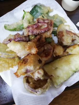 イカゲソと野菜の天ぷら