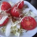 白菜とミニトマトの和風サラダ