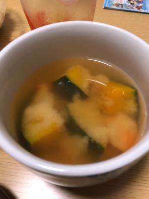 ホッコリかぼちゃの味噌汁
