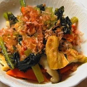 とっても簡単小松菜の煮びたし