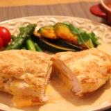ジューシーな鶏胸肉のベーコンチーズはさみ焼き