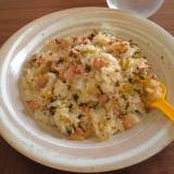 酢飯でさっぱり♪辛子高菜と豚肉の納豆炒飯★