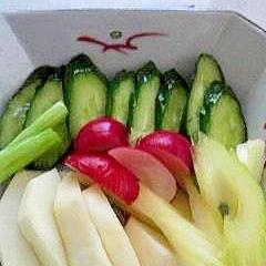 これはサラダか、お新香か?野菜の簡単浅漬け