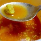 ふきのとう入りピリ辛スープ