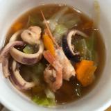 ブイヤベース風魚介スープ
