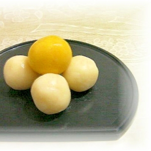 白玉粉と豆腐と南瓜で月見だんご