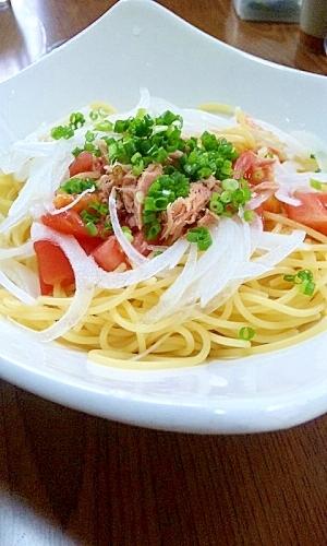トマトとツナの冷製スパゲティ