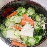 塩麹で野菜の水キムチ風