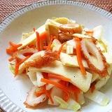 白菜と高野豆腐とちくわの炒め物