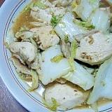 白菜と鶏むね肉としいたけの炒め物★
