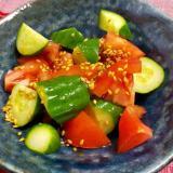 副菜!ヘルシー!トマトときゅうりの中華風サラダ