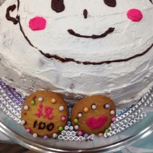 お食い初め(*^^*)100日デコレーションケーキ