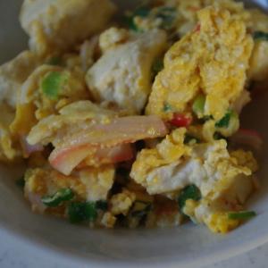 お安くできます♪節約料理☆彩りの良い炒り豆腐