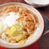 温まる~◎白菜たっぷり鍋焼きうどん