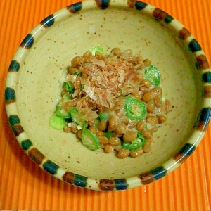 オクラ納豆♪