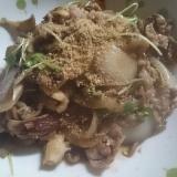 牛肉と玉ねぎ、舞茸の甘辛炒め
