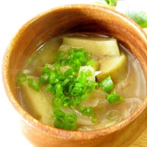 素麺☆茄子と素麺のおみそ汁