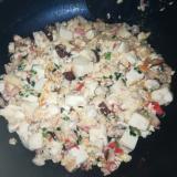 卵入り 栄養満点 中華風の炒り豆腐