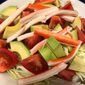 アボカドとカニカマのサラダ