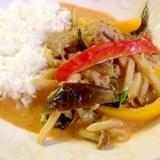 Thai☆チキンとカラフル野菜のタイ風レッドカレー