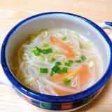 節約☆もやしと人参と小ねぎのスープ
