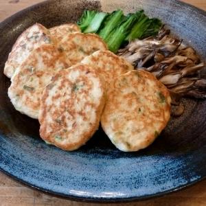 塩麹でフワ②☆にんにくポン酢だれの豆腐バーグ