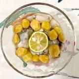 牡蠣の梅酢和えに、銀杏